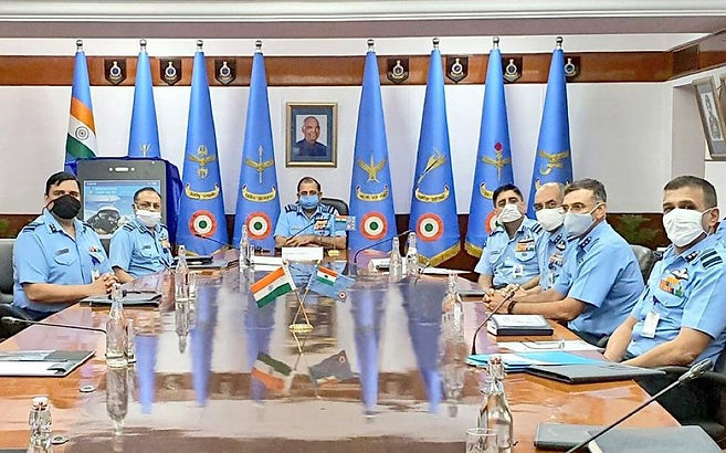 Air Chief Marshal RKS Bhadauria launched a mobile application 'MY IAF'.