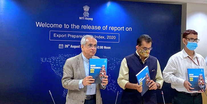 Gujarat has been ranked first in the first-ever Export Preparedness index 2020 released by NITI Aayog