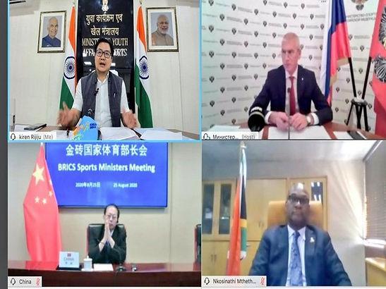 Union Sports Minister Kiren Rijiju attended the meeting of Sports Ministers of the BRICS nations