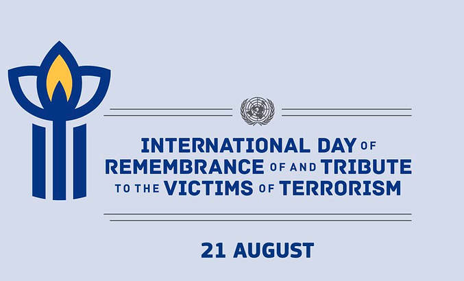 International Day of Remembrance of and Tribute to the Victims of Terrorism is observed on 21st August.