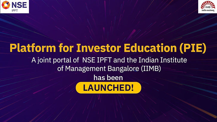 NSE and IIMB jointly launched Platform for Investor Education