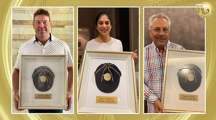 South African Jaques Kallis, Pakistan batsman Zaheer Abbas and former Australian captain Lisa Sthalekar have been inducted into the International Cricket Council's Hall of Fame.