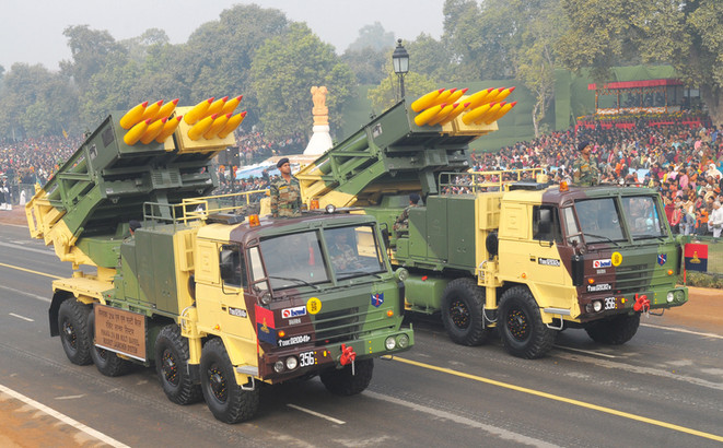 MoD signed a contract worth Rs 2580 cr with BEML, TPCL and L&T for Supply of Pinaka Regiments to Indian Army