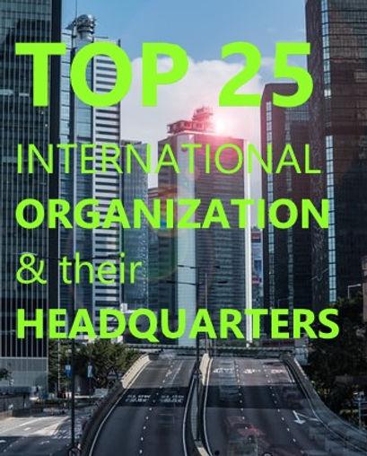 International Organizations and their headquarters