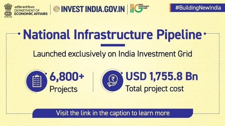 FM launches an online dashboard of National Infrastructure Pipeline