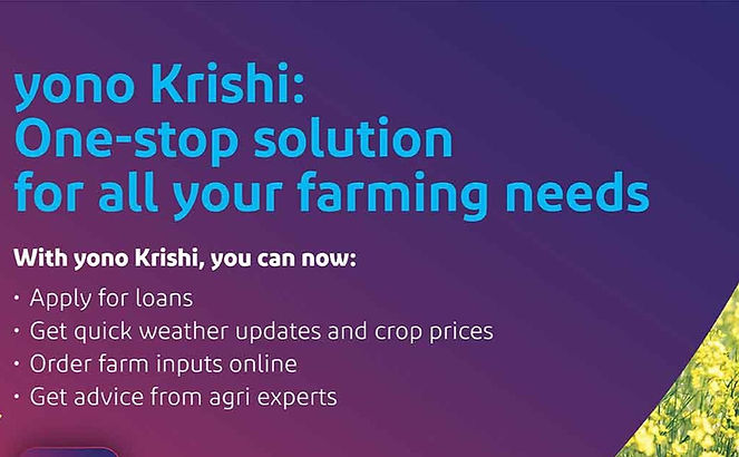SBI rolls out 'KCC (Kisan Credit Card) Review option' for Farmers on YONO KRISHI app.