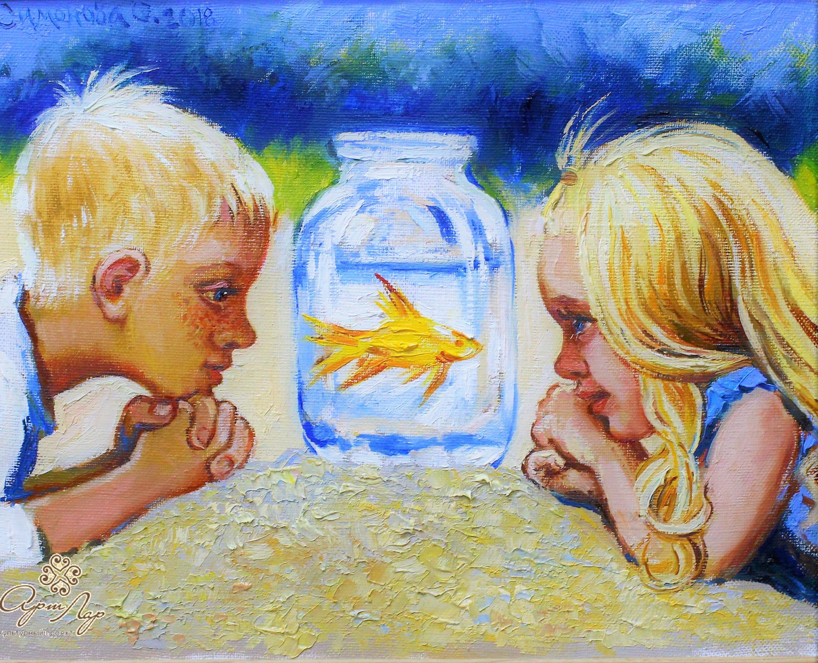 375. Симонова О. Золотая рыбка 24х33