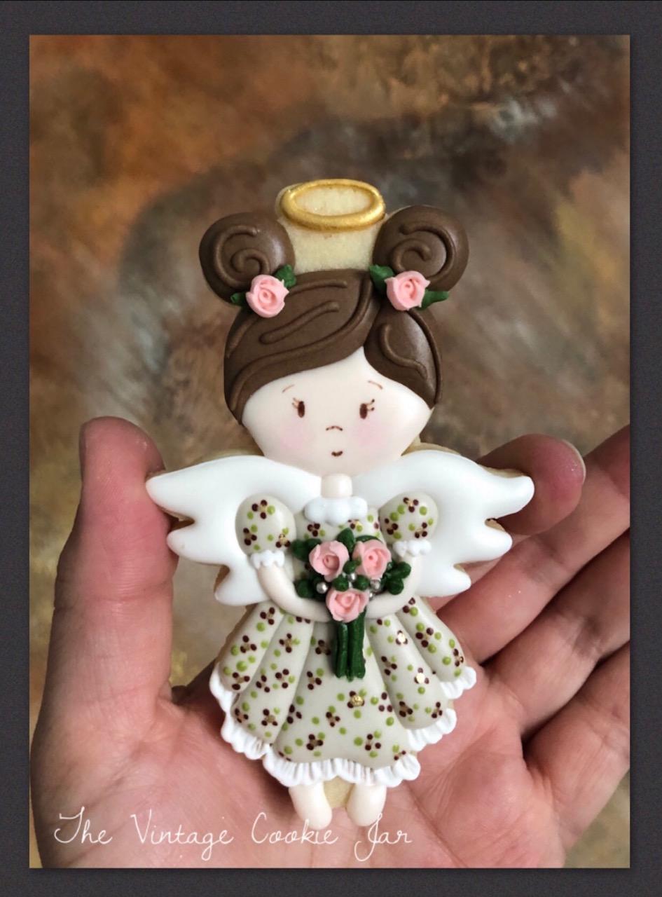 Royal Icing Sugar Cookie Angel