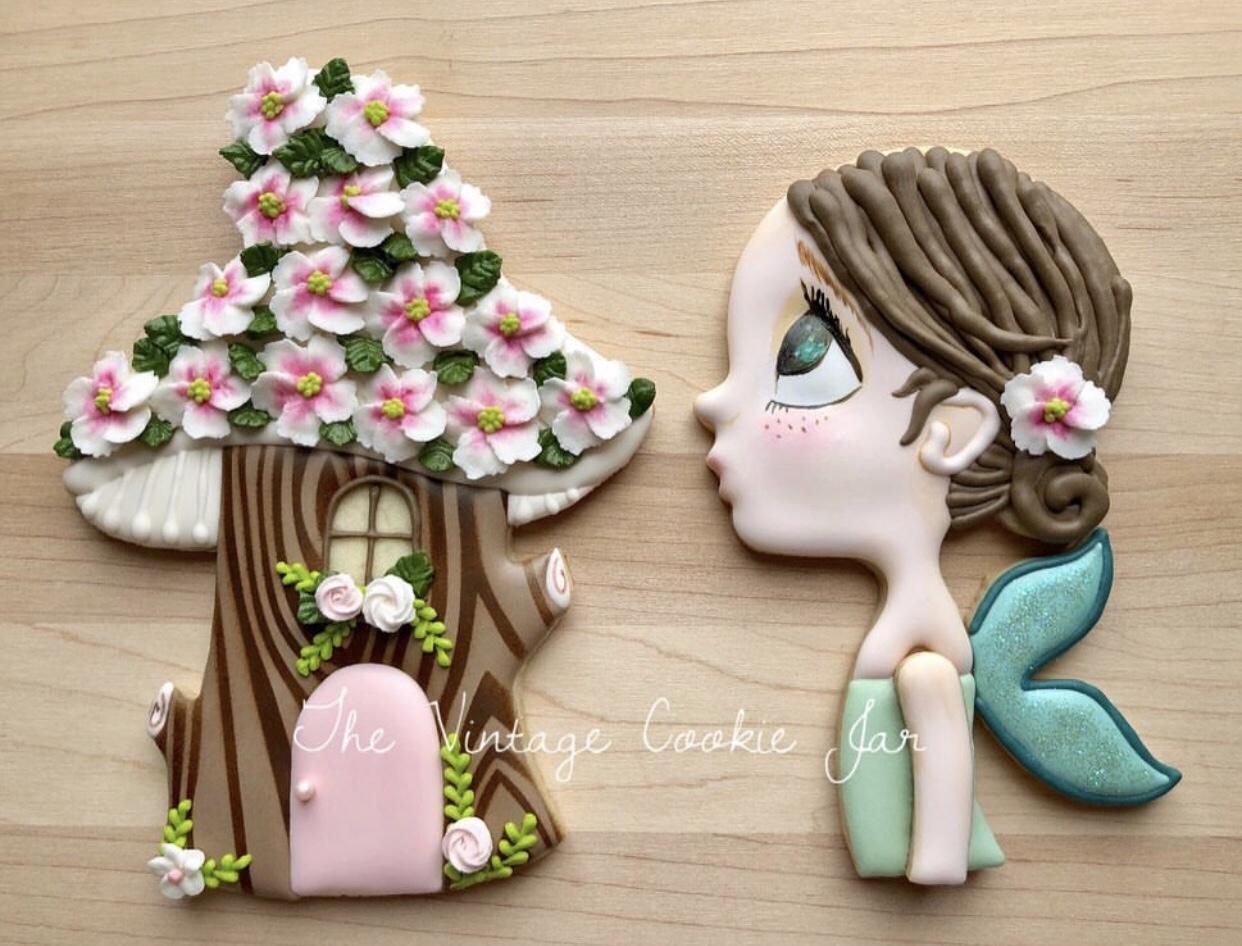 Sugar Cookie Fairy and Mushroom House