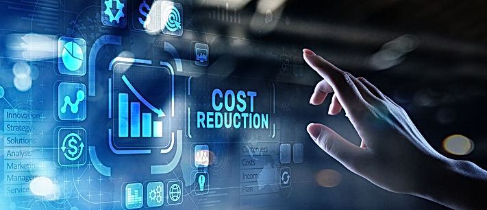 Cost reduction business finance concept