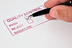 Quality Control   A quality control stam