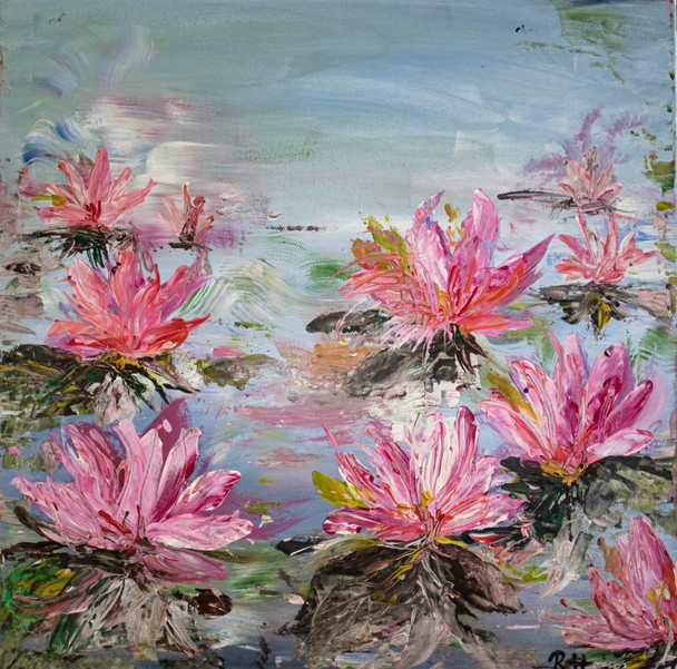 Tiny waterlilies bading, 2015