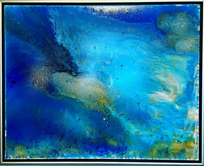 Plankton Sprakling in Deep Blue Sea, 2019