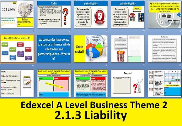 2.1.3 Liability - Theme 2 Edexcel A Level Business