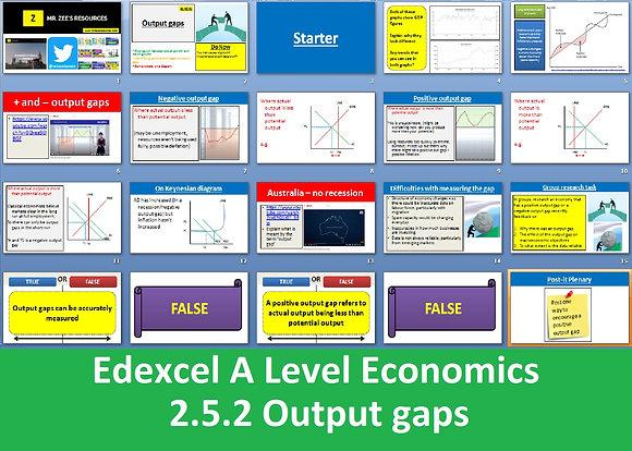 2.5.2 Output gaps - Theme 2 Edexcel A Level Economics