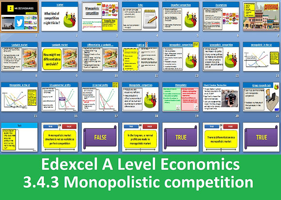 3.4.3 Monopolistic competition - Theme 3 Edexcel A Level Economics