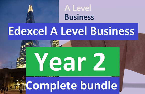 Edexcel A Level Business YEAR 2 (Theme 3 & 4)