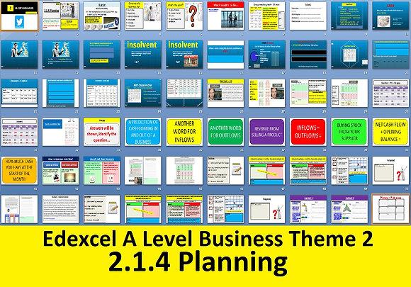 2.1.4 Planning - Theme 2 Edexcel A Level Business