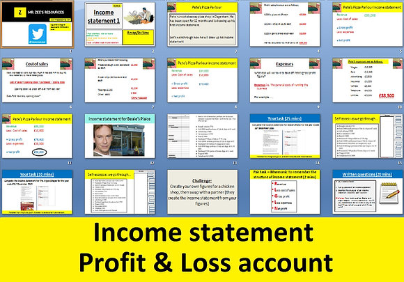 Income statement - Profit and loss account
