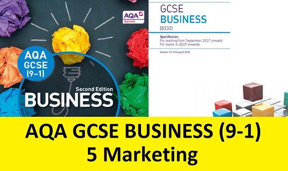 AQA GCSE Business 9-1 - 5 Marketing