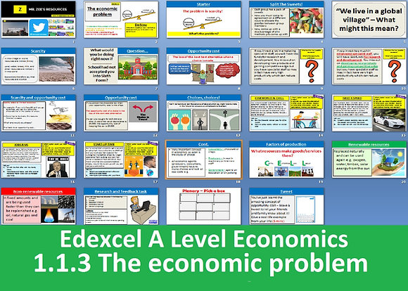 1.1.3 The economic problem - Theme 1 Edexcel A Level Economics