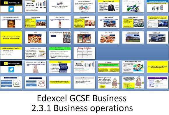 Edexcel GCSE Business - Theme 2 - 2.3.1 Business operations
