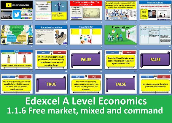 1.1.6 Free market, mixed and command economy - Theme 1 Edexcel A Level Economics