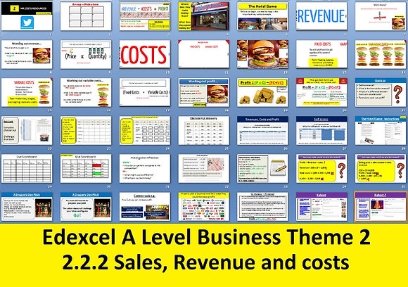 2.2.2 Sales, revenue and costs - Theme 2 Edexcel A Level Business