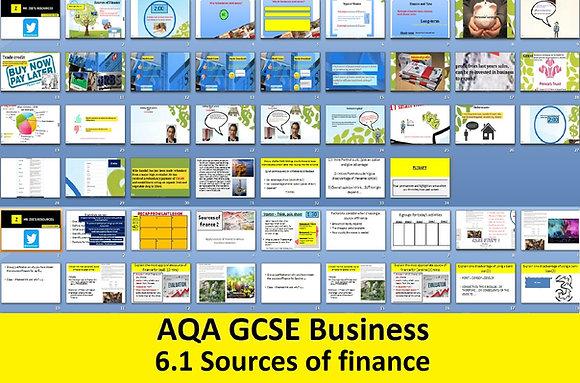 AQA GCSE Business 9-1 - 6.1 Sources of finance