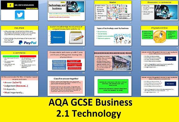 AQA GCSE Business 9-1 - 2.1 Technology