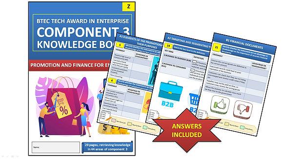 BTEC Tech Award Enterprise - Comp. 3 Promotion and Finance Interactive Workbook