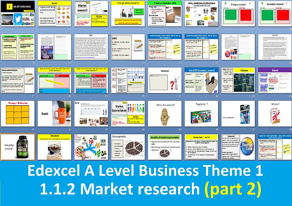 1.1.2 Market research (part 2 market research & segmentation) - A Level Business