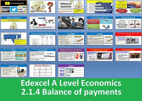 2.1.4 Balance of payments - Theme 2 Edexcel A Level Economics