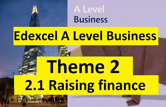 Edexcel A Level Business Theme 2- 2.1 Raising finance