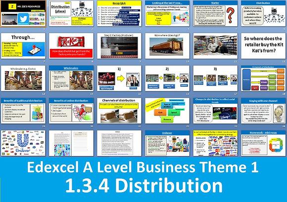 1.3.4 Distribution (Place) - Theme 1 Edexcel A Level Business