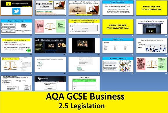 AQA GCSE Business 9-1 - 2.5 Legislation