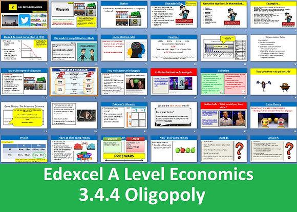 3.4.4 Oligopoly - Theme 3 Edexcel A Level Economics