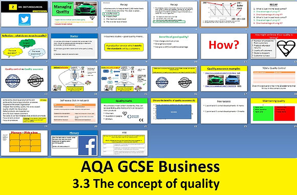 AQA GCSE Business 9-1 - 3.3 The concept of quality
