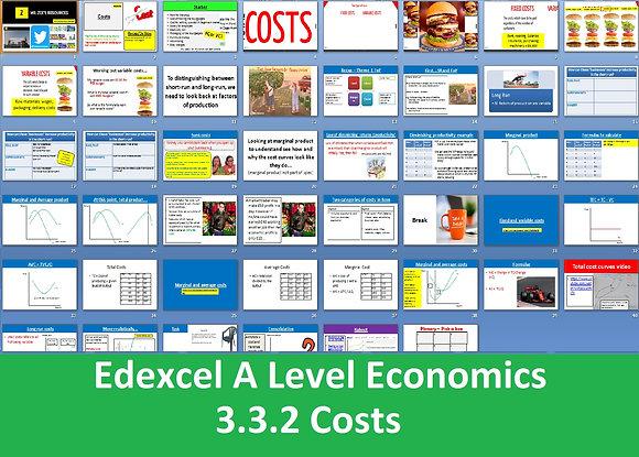 3.3.2 Costs - Theme 3 Edexcel A Level Economics