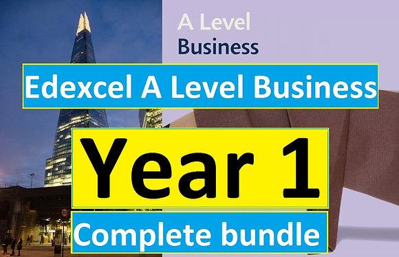 Edexcel A Level Business YEAR 1 (Theme 1 & 2)