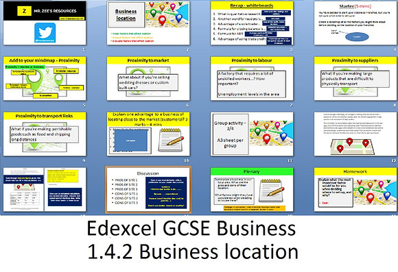 Edexcel GCSE Business - Theme 1 - 1.4.2 Business location