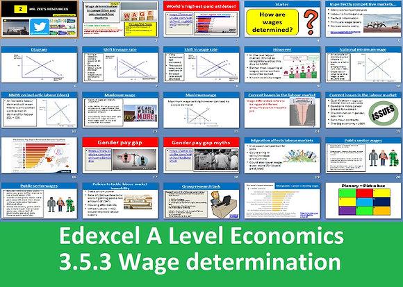 3.5.3 Wage determination - Theme 3 Edexcel A Level Economics