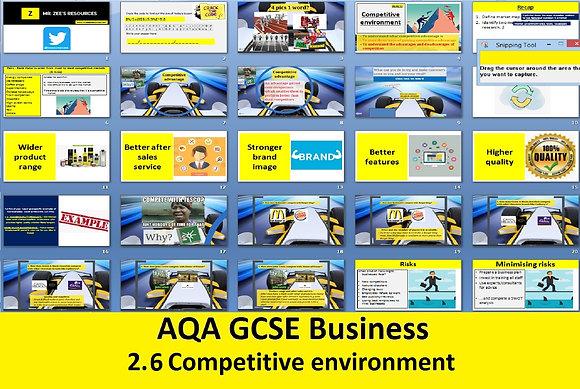 AQA GCSE Business 9-1 - 2.6 Competitive environment