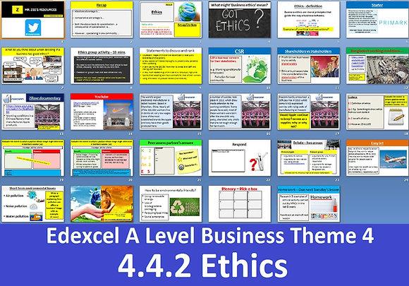 Edexcel A Level Business Theme 4 - 4.4.2 Ethics