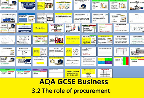 AQA GCSE Business 9-1 - 3.2 The role of procurement