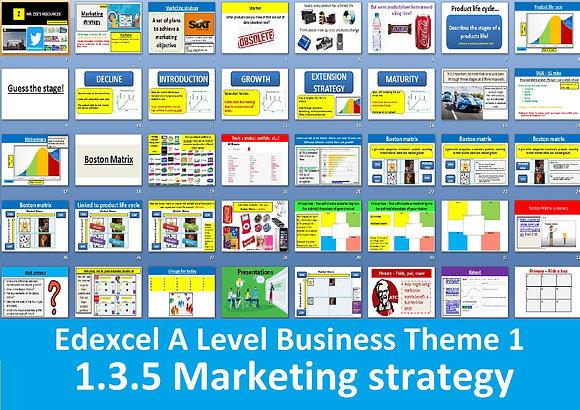 1.3.5 Marketing strategy - Theme 1 Edexcel A Level Business