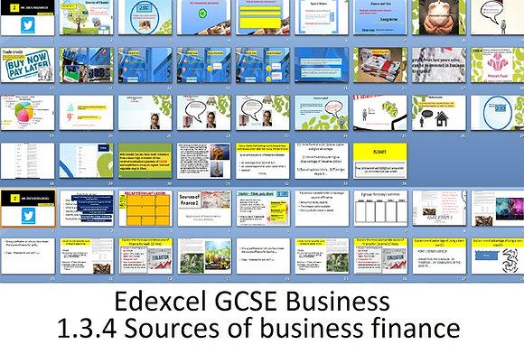 Edexcel GCSE Business - Theme 1 - 1.3.4 Sources of business finance