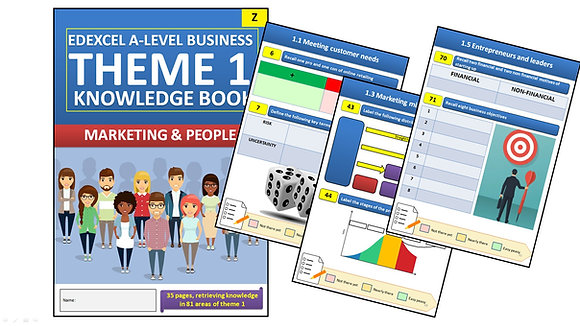 Edexcel A Level Business Theme 1 Interactive Knowledge Book