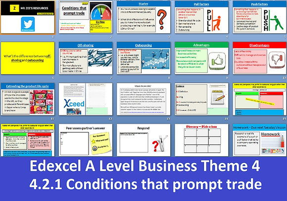 Edexcel A Level Business Theme 4 - 4.2.1 Conditions that prompt trade
