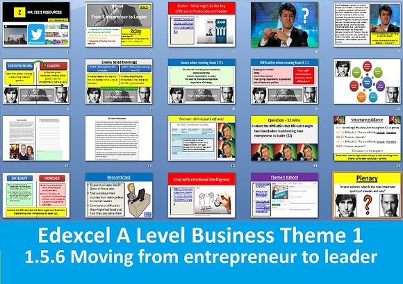 1.5.6 Moving from entrepreneur to leader - Theme 1 Edexcel A Level Business